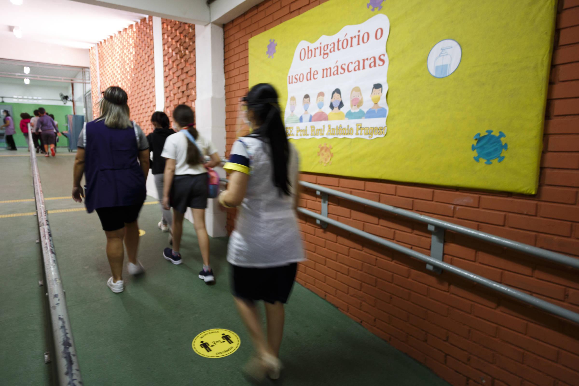 Professores relatam dificuldades para fazer aluno cumprir regras de protocolos sanitários